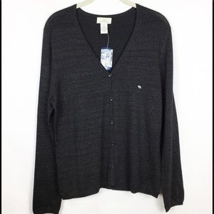 Brooks Brothers 346 Cardigan Silk Metallic Blend